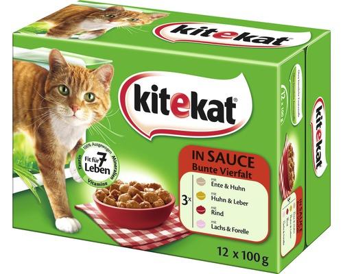 Multipack Kitekat 12 repas Une grande variété de plats en sauce 12 x 100 g