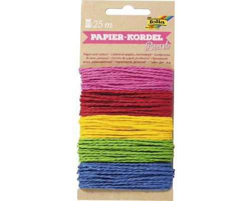 Cordon papier multicolore 25m