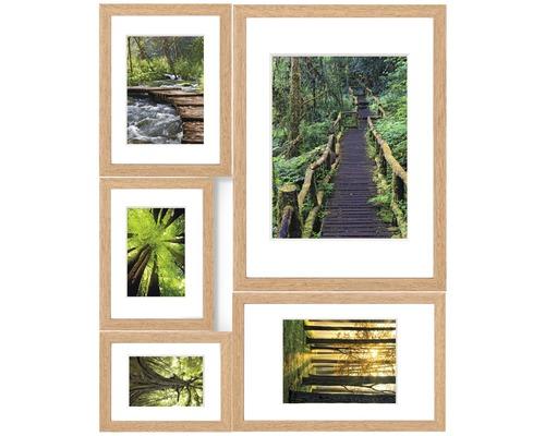 Cadre multivues chêne 5 photos Green Magic 53x65 cm