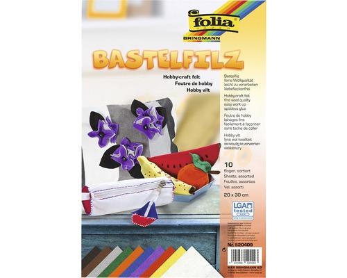 Feutrine pour bricolage multicolore 20x30cm