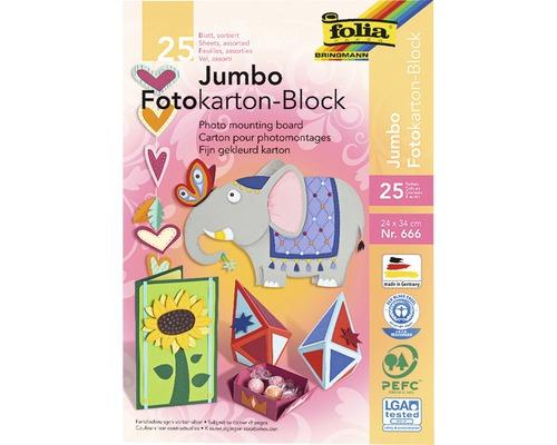 Bloc de carton pour photomontage Jumbo multicolore 24x34cm