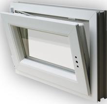 Fenêtre de cave plastique blanche 600x500mm tirant gauche-thumb-3