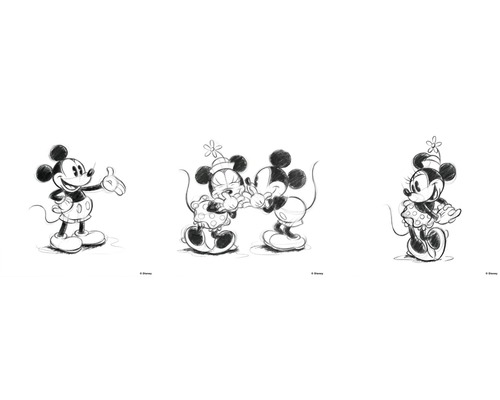 Tableau sur toile Mickey & Minnie 3x 30x30 cm