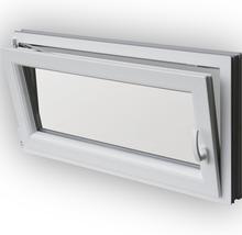 Fenêtre de cave en PVC blanche 1000x500mm tirant gauche-thumb-1