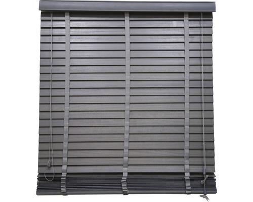 Store en bois gris foncé 100x175 cm