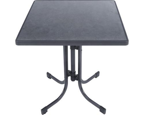 Table de jardin avec plateau de table Sevelit 70 x 70 x 72 cm pliante ardoise