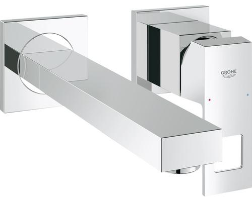 Mitigeur de lavabo encastrable GROHE Eurocube 23447000 chrome, sans bonde de vidage