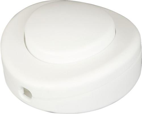 Interrupteur à pied blanc, convient pour un câble de 0,5 - 1,0mm²