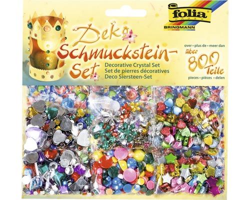 Pierres décoratives multicolores lot de 800