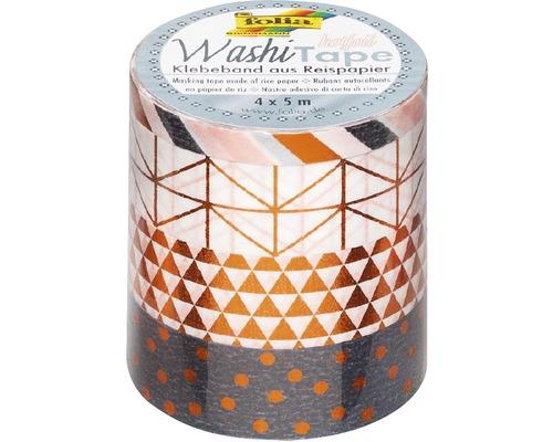 Washi Tape Hotfoil cuivre lot de 4