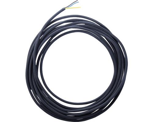 Câble textile H03VV-F 3x0,75 noir au mètre