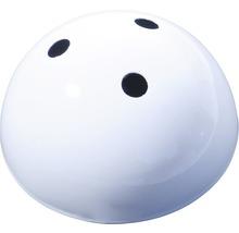 Baldaquin de lampe triple, métallique blanc Ø100mm-thumb-0
