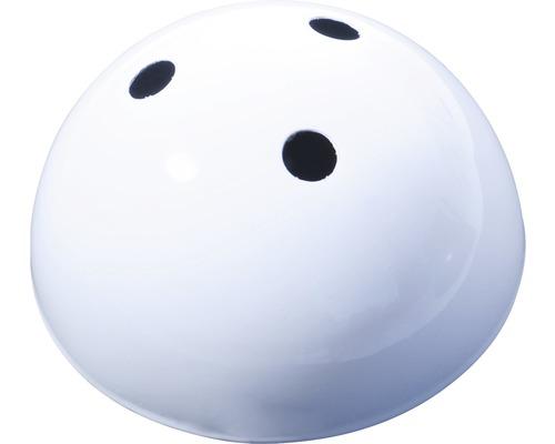 Baldaquin de lampe triple, métallique blanc Ø100mm-0