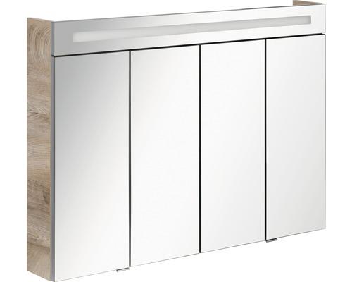 Spiegelschrank FACKELMANN Stanford eiche 110x78,5x16,5 cm IP 20