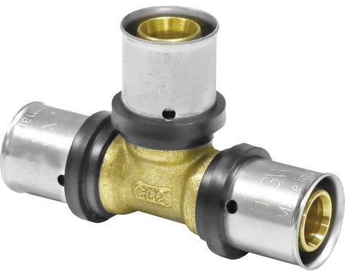 Raccord à compression pièce en T pour tube multicouche composite 16 mm