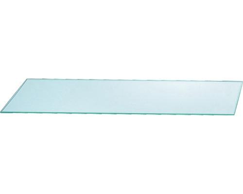 Tablette en verre transparent 60x14 cm