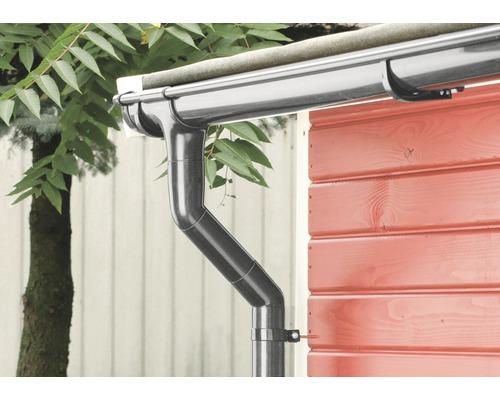 Kit de gouttière de toit Marley DN 75 mm anthracite métallique DB703 pour une longueur de côté de 3 m