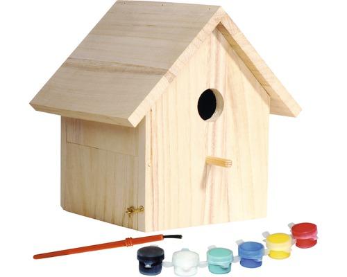 Nichoir kit de bricolage pour enfants, à peindre, 17,5x15,5x20,5cm