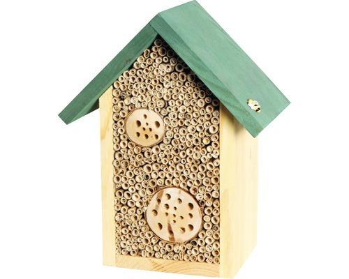 Hôtel pour insectes, maison pour abeilles Schilfinger avec morceaux de branches 23x14x29cm