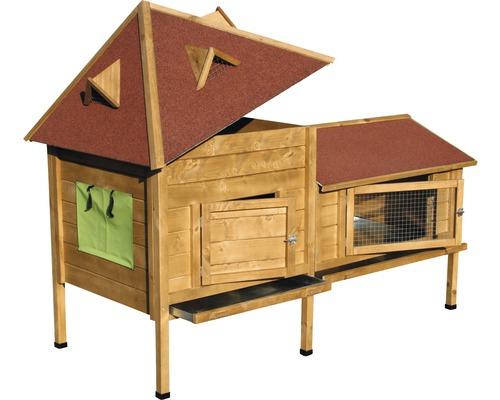 Abri pour petits animaux XXL Résidence avec tour 190x98x138 cm
