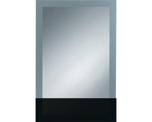 Siebdruckspiegel Toba 60x90 cm silberfarben