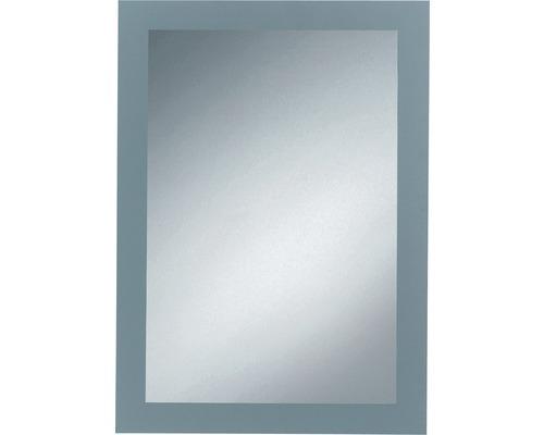 Siebdruckspiegel Toba 50x70 cm silberfarben