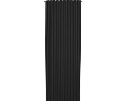 Voile à passants Midnight noir 140x255 cm