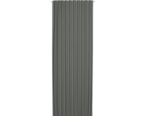 Voile à passants Midnight gris foncé 140x255 cm
