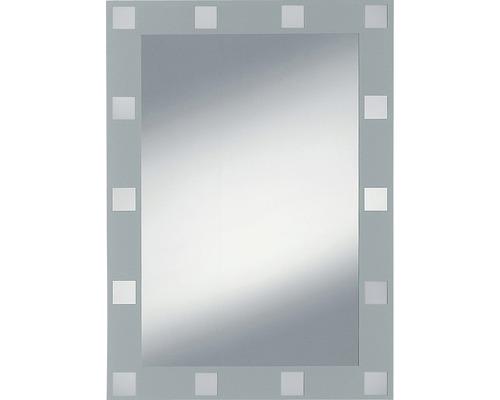 Siebdruckspiegel Domino 50x70 cm silberfarben