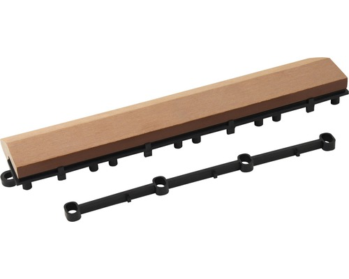 Partie latérale universelle WPC Konsta dalle à clipser 30x7x2.8cm marron
