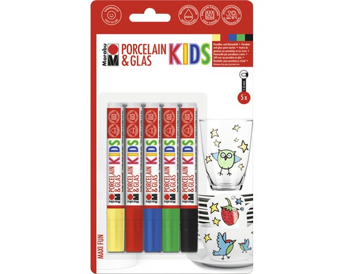 Porcelain & Glas Marabu Kids Maxi Fun lot de 5