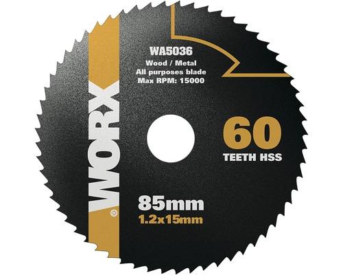 Lame de scie circulaire Worx 60 Z pour Versacut