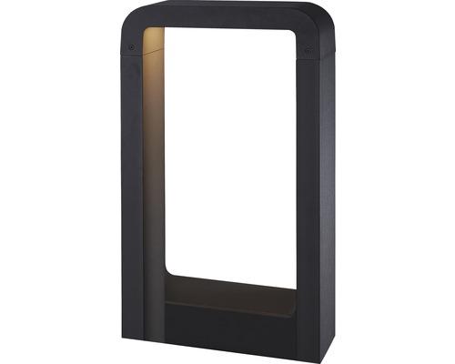 Borne lumineuse LED FLAIR Taygeta noir avec ampoule 600 lm 3000 K blanc chaud H 500 mm