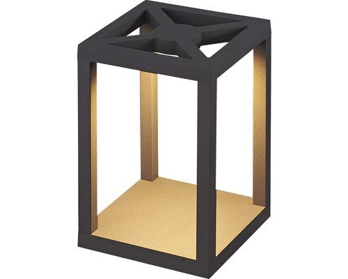 Borne extérieure FLAIR LED Meissa noir avec ampoule 470 lm 3000 K blanc chaud H 250 mm