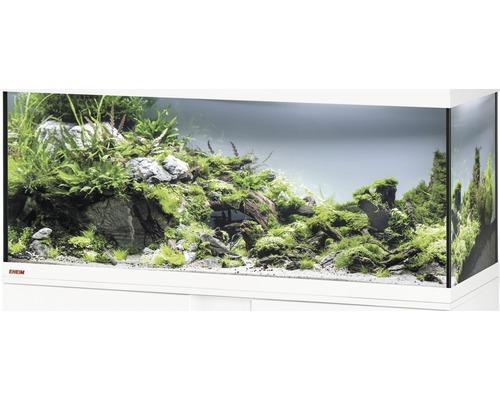 Aquarium, bac en verre EHEIM Vivaline 123 sans éclairage 121x41x54 cm blanc