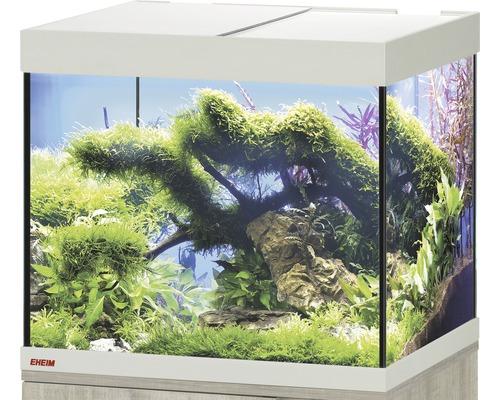 Aquarium EHEIM Vivaline 150 avec éclairage à LED, chauffage, filtre sans meuble bas chêne
