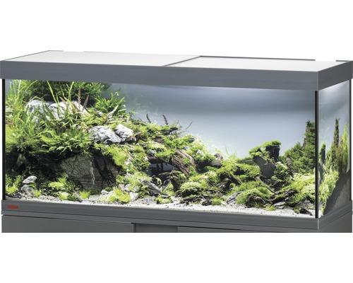 Aquarium EHEIM Vivaline 240 avec éclairage à LED, chauffage, filtre sans meuble bas anthracite