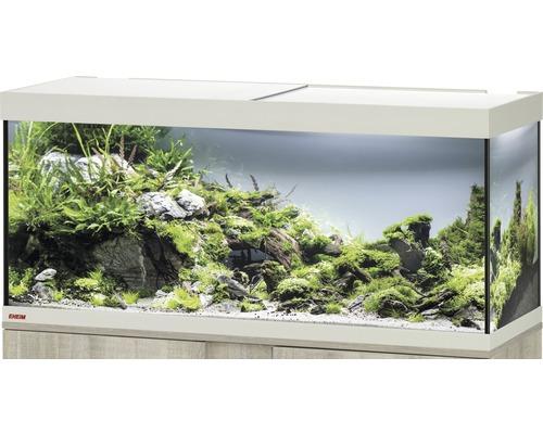 Aquarium EHEIM Vivaline 240 avec éclairage à LED, chauffage, filtre sans meuble bas chêne