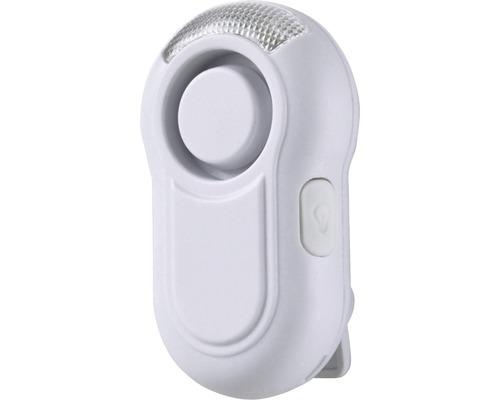 Alarme Mini Jogging 115 dB avec bouton-poussoir X4-Life Security blanc