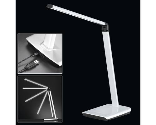 Lampe de bureau LED à intensité lumineuse variable 7,6 W 818 lm 3000 K blanc chaud h 790 mm Bragi couleur argent