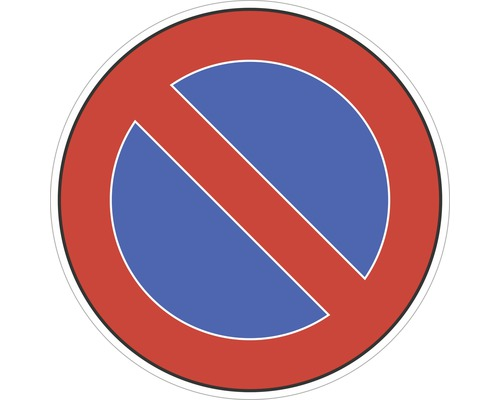 Panneau «Arrêt interdit» autocollant Ø100 mm