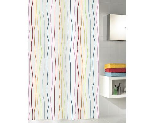 Rideau de douche Kleine Wolke Jolie multicolore 180x200cm