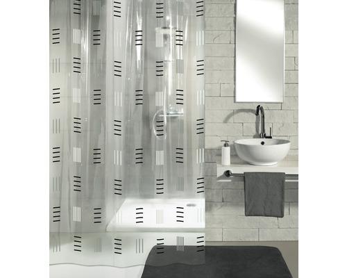 Rideau de douche Kleine Wolke Grafico gris 180x200cm