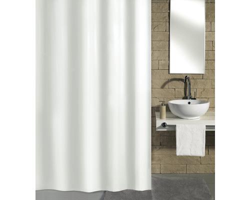 Rideau de douche Kleine Wolke Kito blanc 120x200cm