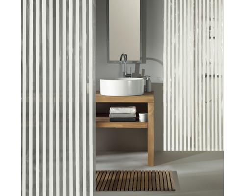 Rideau de douche Kleine Wolke Noa blanc 180 x 200 cm