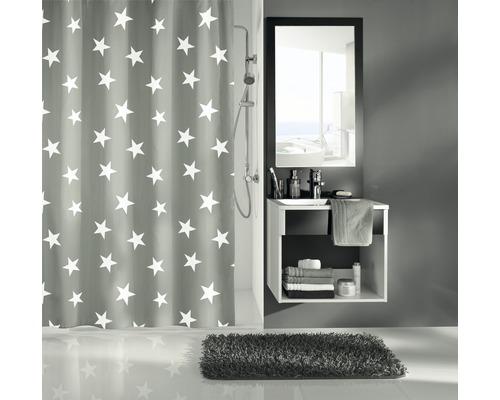 Rideau de douche Kleine Wolke Nova gris 180x200cm