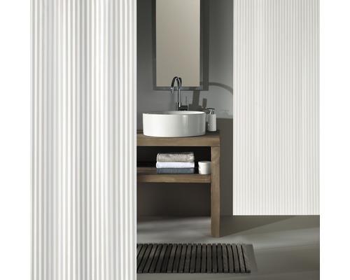 Rideau de douche Kleine Wolke Sanna blanc 120x200cm