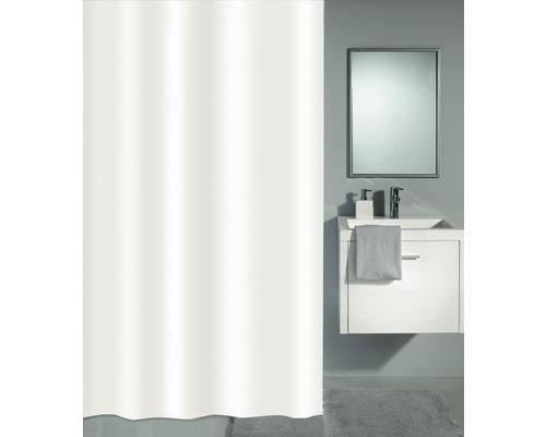 Rideau de douche Kleine Wolke Phoenix blanc 120 x 200 cm