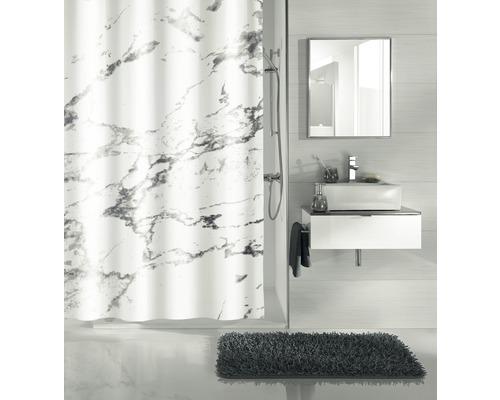 Rideau de douche Kleine Wolke Marble gris 180x200cm