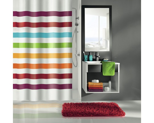 Rideau de douche Kleine Wolke Select multicolore 180x200cm